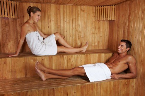 Pure relaxation in the farm's private sauna